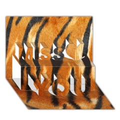 Tiger Miss You 3d Greeting Card (7x5)