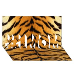 Tiger Skin #1 Mom 3d Greeting Cards (8x4) by AnjaniArt