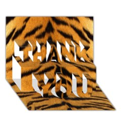 Tiger Skin Thank You 3d Greeting Card (7x5) by AnjaniArt