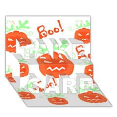 Halloween Pumpkins Pattern Take Care 3d Greeting Card (7x5) by Valentinaart