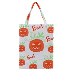 Halloween Pumpkins Pattern Classic Tote Bag by Valentinaart