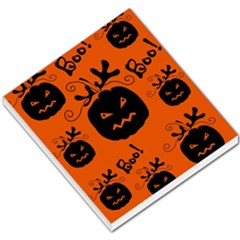 Halloween Black Pumpkins Pattern Small Memo Pads by Valentinaart