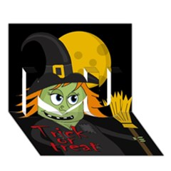 Halloween Witch I Love You 3d Greeting Card (7x5) by Valentinaart