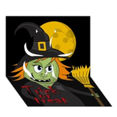 Halloween Witch Clover 3d Greeting Card (7x5) by Valentinaart