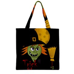 Halloween Witch Zipper Grocery Tote Bag by Valentinaart