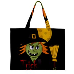 Halloween Witch Zipper Mini Tote Bag by Valentinaart