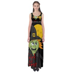 Halloween Witch Empire Waist Maxi Dress by Valentinaart