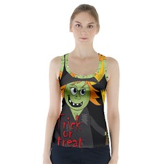 Halloween Witch Racer Back Sports Top by Valentinaart