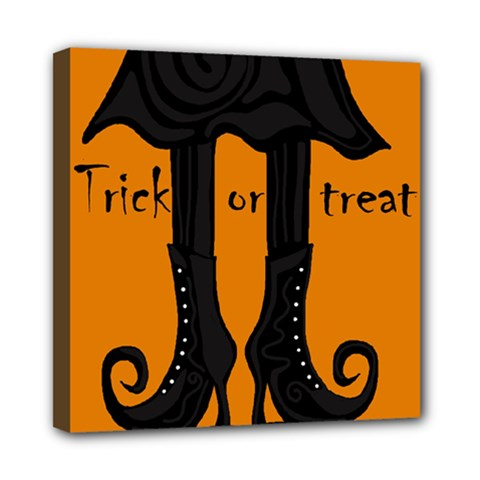 Halloween   Witch Boots Mini Canvas 8  X 8  by Valentinaart