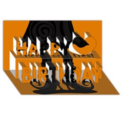 Halloween   Witch Boots Happy Birthday 3d Greeting Card (8x4) by Valentinaart
