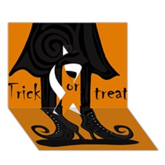 Halloween   Witch Boots Ribbon 3d Greeting Card (7x5)