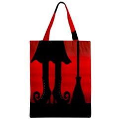 Halloween Black Witch Zipper Classic Tote Bag by Valentinaart
