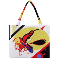 Abstract Art Mini Tote Bag by Valentinaart