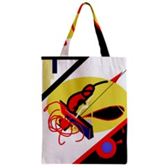 Abstract Art Zipper Classic Tote Bag by Valentinaart
