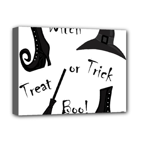 Halloween Witch Deluxe Canvas 16  X 12   by Valentinaart