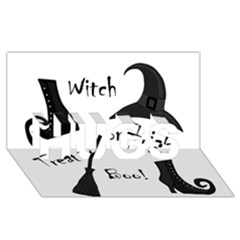 Halloween Witch Hugs 3d Greeting Card (8x4)