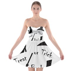 Halloween Witch Strapless Bra Top Dress