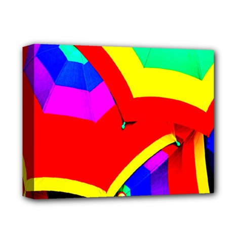 Umbrella Color Red Yellow Green Blue Purple Deluxe Canvas 14  X 11