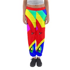 Umbrella Color Red Yellow Green Blue Purple Women s Jogger Sweatpants