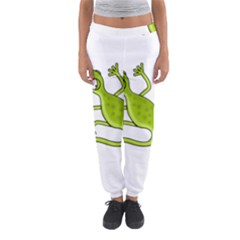 Green Lizard Women s Jogger Sweatpants by Valentinaart