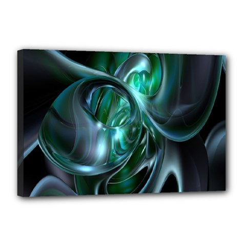 Ws Blue Green Float Canvas 18  X 12  by AnjaniArt