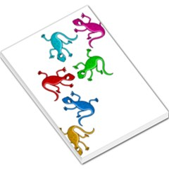 Colorful Lizards Large Memo Pads by Valentinaart
