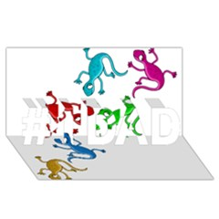 Colorful Lizards #1 Dad 3d Greeting Card (8x4)