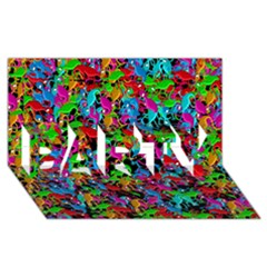 Lizard Pattern Party 3d Greeting Card (8x4)