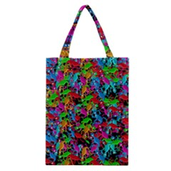 Lizard Pattern Classic Tote Bag by Valentinaart