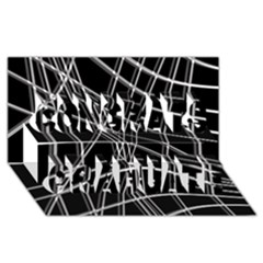 Black And White Warped Lines Congrats Graduate 3d Greeting Card (8x4)