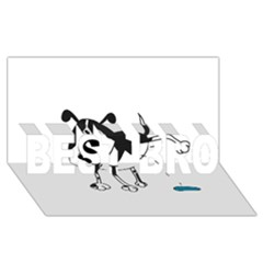 My Cute Dog Best Bro 3d Greeting Card (8x4) by Valentinaart