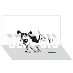 My Cute Dog Best Sis 3d Greeting Card (8x4) by Valentinaart