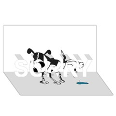 My Cute Dog Sorry 3d Greeting Card (8x4) by Valentinaart