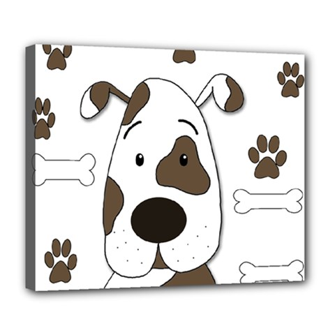 Cute Dog Deluxe Canvas 24  X 20   by Valentinaart