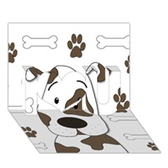 Cute Dog I Love You 3d Greeting Card (7x5) by Valentinaart