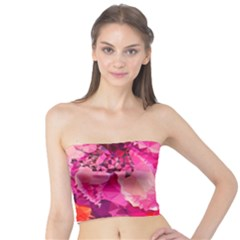 Geometric Magenta Garden Tube Top by DanaeStudio