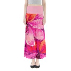 Geometric Magenta Garden Women s Maxi Skirt by DanaeStudio