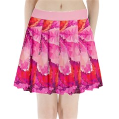Geometric Magenta Garden Pleated Mini Skirt