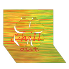 Chill Out Clover 3d Greeting Card (7x5) by Valentinaart