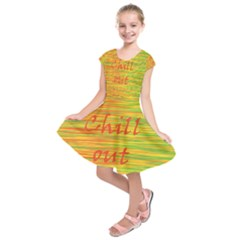 Chill Out Kids  Short Sleeve Dress by Valentinaart