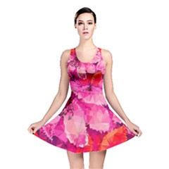 Geometric Magenta Garden Reversible Skater Dress by DanaeStudio