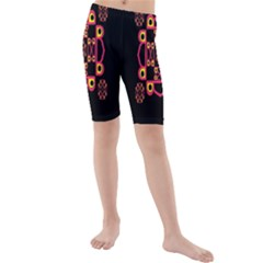 LETTER R Kids  Mid Length Swim Shorts