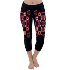 LETTER R Capri Winter Leggings