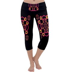 LETTER R Capri Yoga Leggings