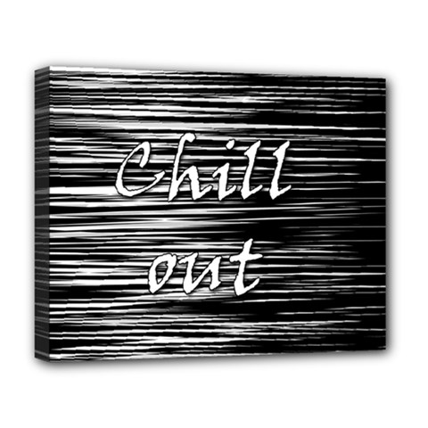 Black An White  chill Out  Deluxe Canvas 20  X 16   by Valentinaart