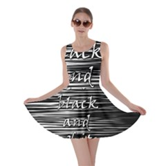 I love black and white Skater Dress