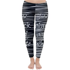 I love black and white Winter Leggings
