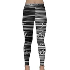 I love black and white Yoga Leggings