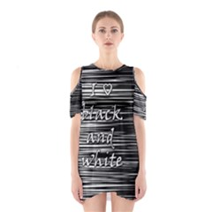 I love black and white Cutout Shoulder Dress