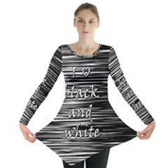 I love black and white Long Sleeve Tunic